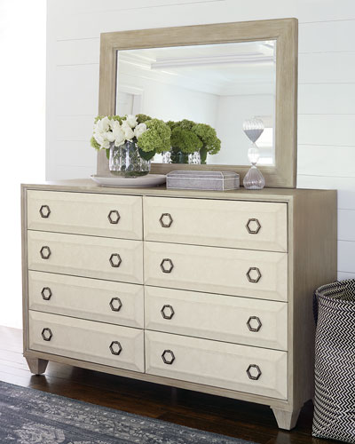 Santa Barbara Fabric Trim 8-Drawer Dresser