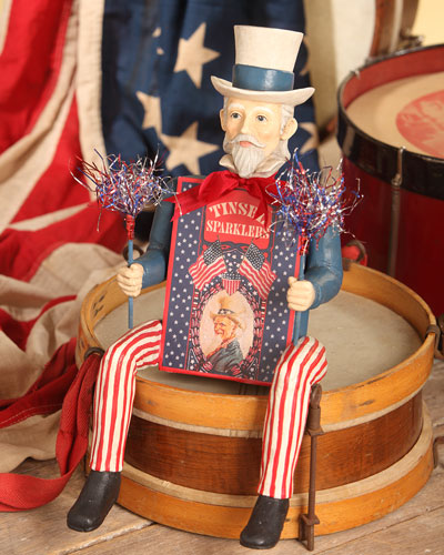 Uncle Sam with Sparkler Box