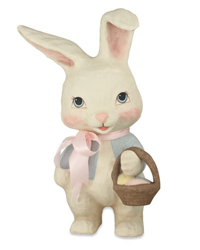 Sweet Bunny Paper Mache Decor
