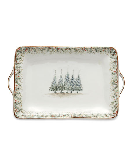 Arte Italica Natale Large Rectangular Tray