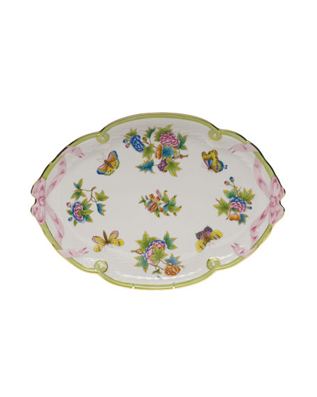 Herend Queen Victoria Ribbon Tray