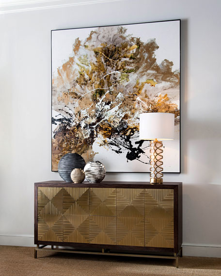 "John-Richard Collection ""Gilt and Charcoal"" Wall Art by Chen Qi"