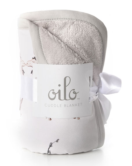 Oilo Studio Llama Jersey Cuddle Blanket