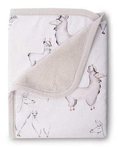 Llama Jersey Cuddle Blanket
