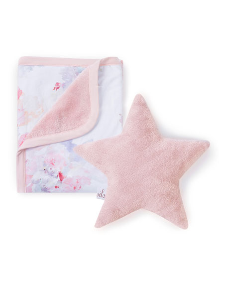 Oilo Studio Prim Cuddle Blanket & Star Pillow