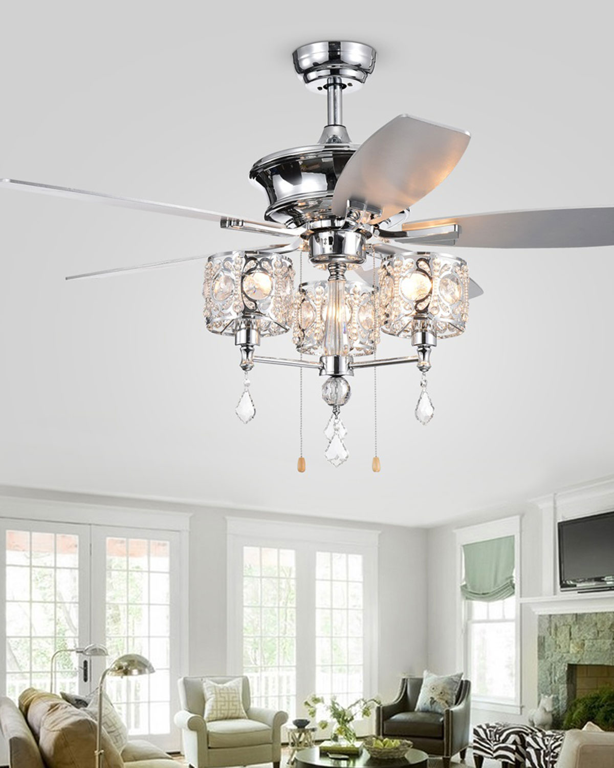 Chandelier Fan: Home Accessories Miramis Crystal Chandelier Ceiling Fan