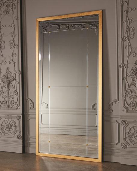 Beaumont Gold Leaf Floor Mirror