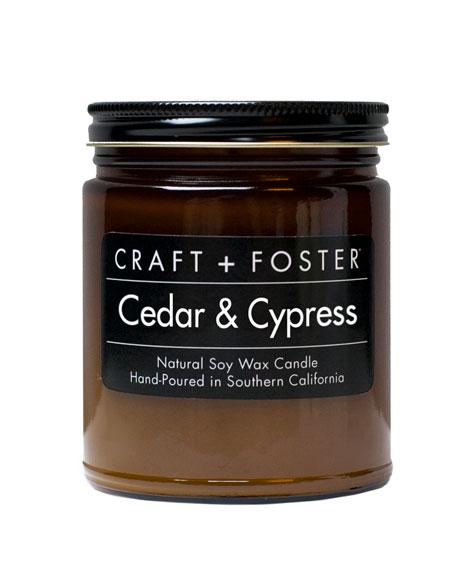 Cedar Cypress Candle, 8 oz.