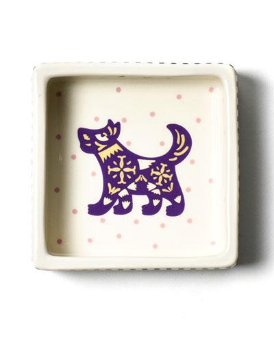 Chinese Zodiac Dog Small Square Trinket Bowl