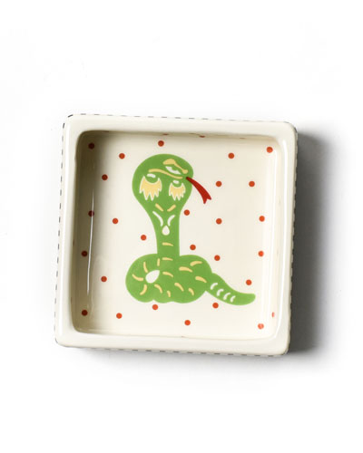 Chinese Zodiac Snake Small Square Trinket Bowl