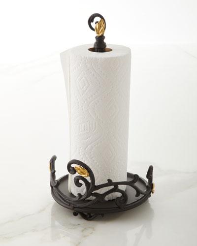 Gold Leaf Paper Towel Roll Holder