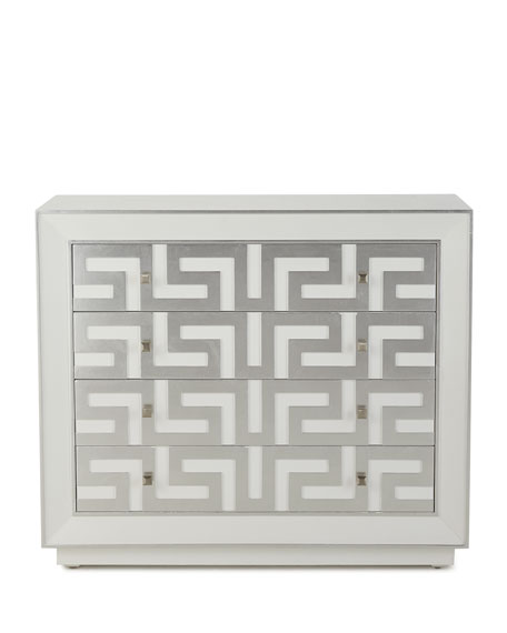 Greek Key Four-Drawer Chest