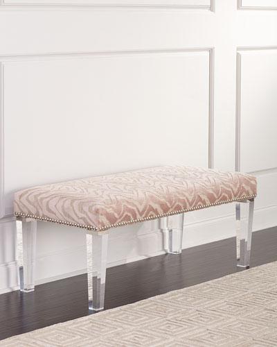 Pantone Bench with Acrylic Legs
