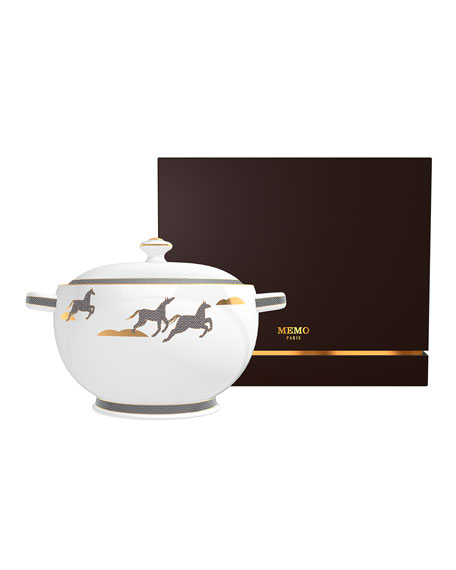Memo Paris Cedar from French Leather Candle in Soup Tureen, 67 oz./ 1900 g