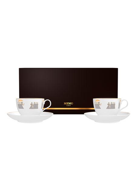 Memo Paris Caramel from Kedu Candle in Tea Cups Set, 2 x 4 oz./ 120 g