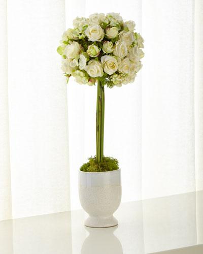 Cornsilk Rose Topiary