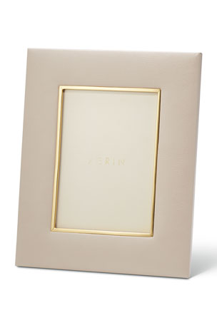 """AERIN Valentina Leather Picture Frame, 5"""" x 7"""""""