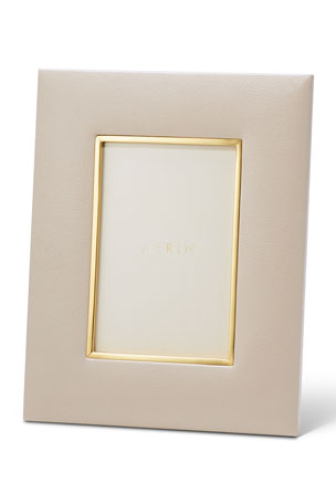 """AERIN Valentina Leather Picture Frame, 4"""" x 6"""""""
