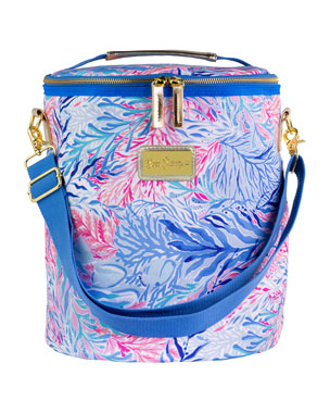 0084881c49 Lilly Pulitzer Kaleidoscope Coral Beach Cooler