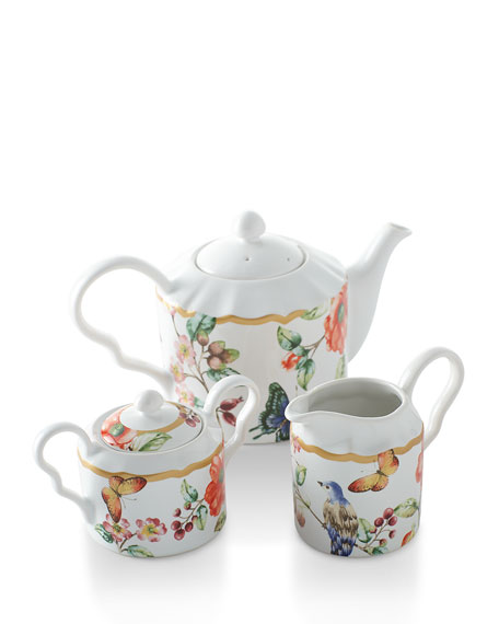 Ambri Teapot, Sugar, and Creamer Set