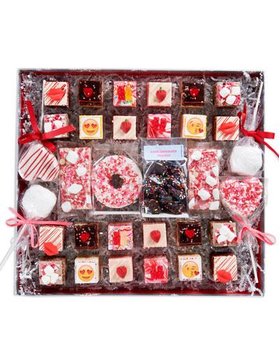 Valentines Deluxe Rice Krispie Treat Gift Box