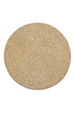 Kim Seybert Unigold Round Metal Beaded Placemat
