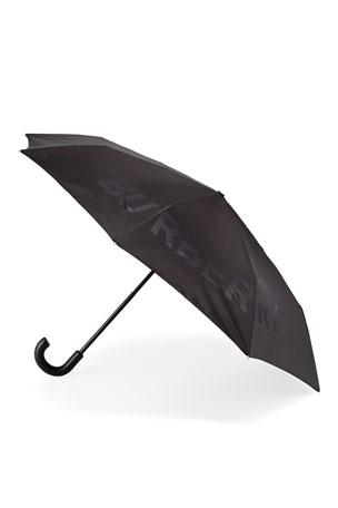 Burberry Trafalgar Logo Jacquard Folding Umbrella