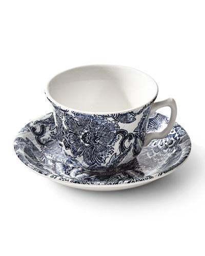 Faded Peony Tea Cup & Saucer