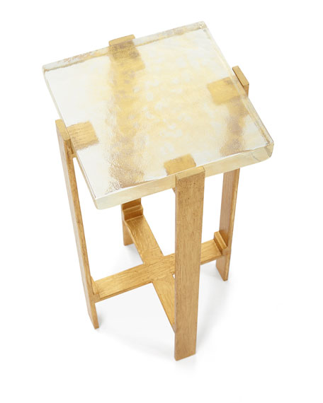 John-Richard Collection Gold Dusted Martini Table