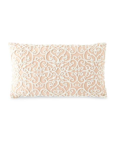 D.V. Kap Home Serafim Rose Damask Pillow