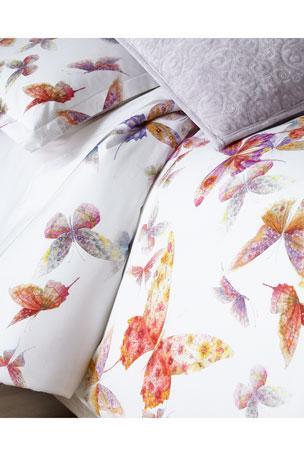 Mirabello for Neiman Marcus Butterfly King Duvet Cover Set