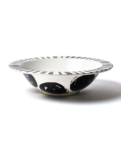 Brushed Dot Deco Rimmed Dinner Bowl