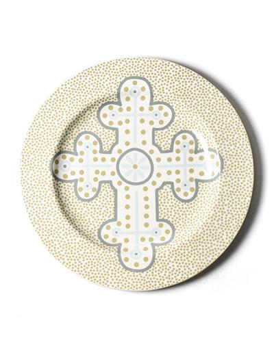Neutral Cross Cobble Platter