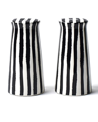 Deco Pedestal Salt and Pepper Shakers