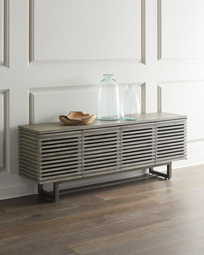 Louvered Entertainment Console