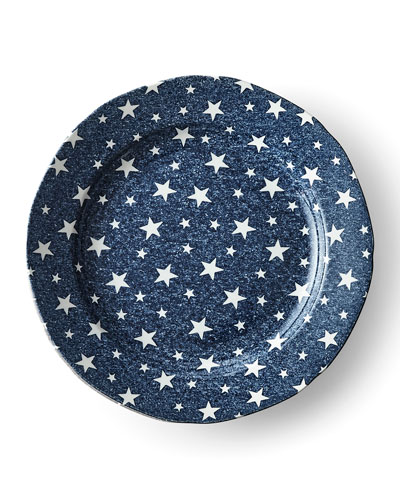 Midnight Sky Salad Plate  Blue