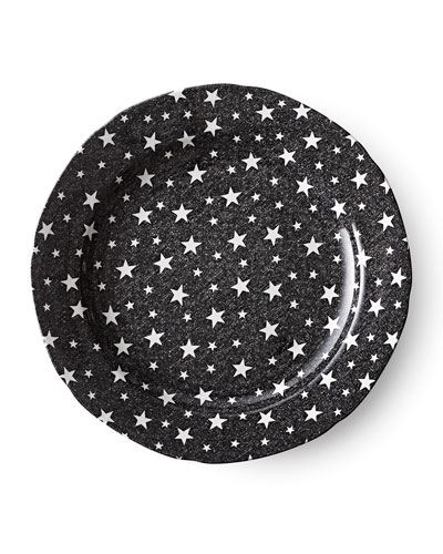 Midnight Sky Dinner Plate  Black