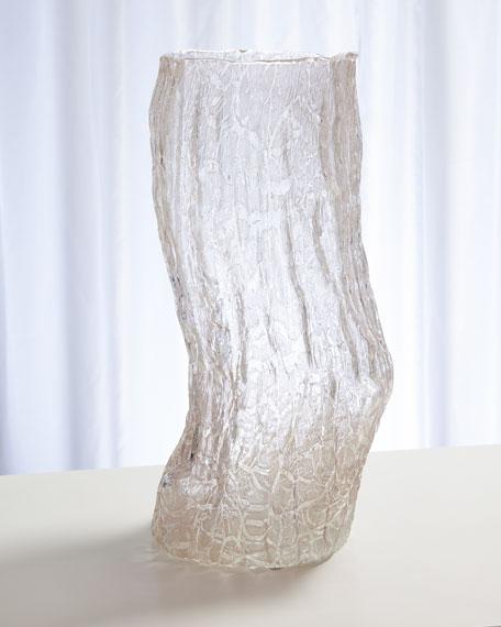 Global Views Faux Bois Glass Small Vase
