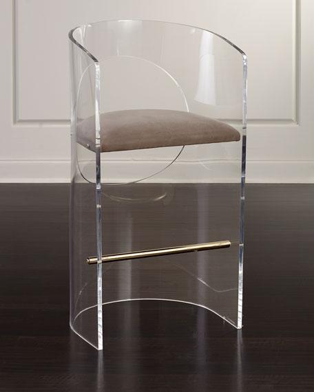 Interlude Home Corin Acrylic Bar Stool | Neiman Marcus