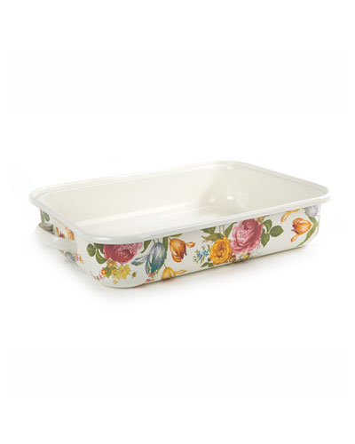 Flower Market Roasting Pan  Rectangular