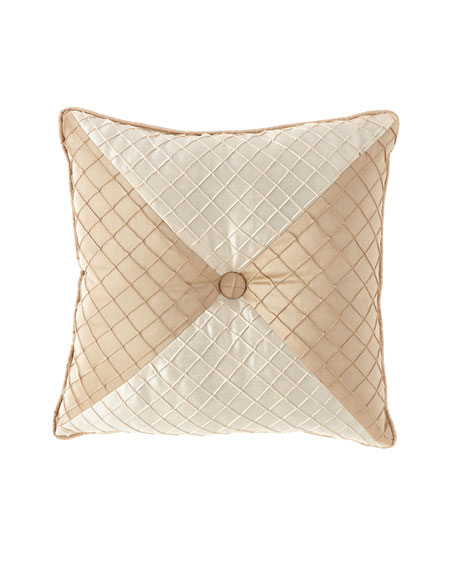"Austin Horn Collection Elegance Mitered Pillow, 20""Sq."