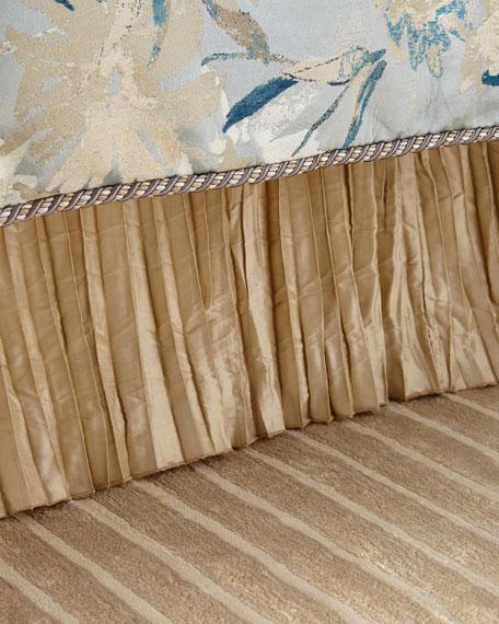 Austin Horn Collection Silk Pleated Queen Dust Skirt