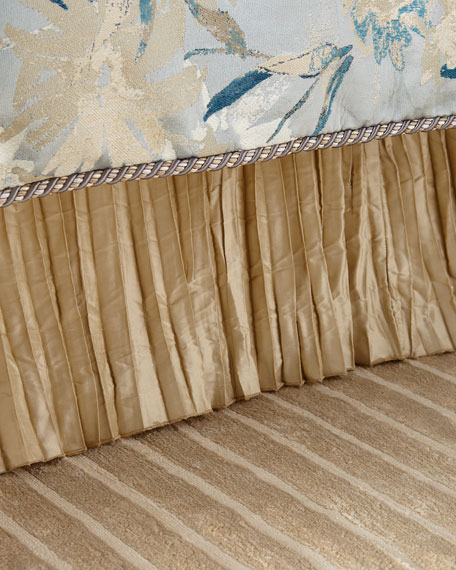 Austin Horn Collection Silk Pleated King Dust Skirt