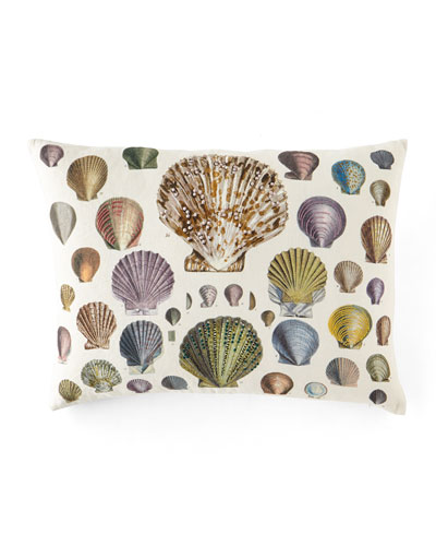 Captain Thomas Brown Shells Oyster Pillow