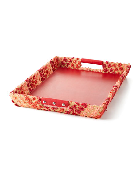 Raffia Rectangle Tray