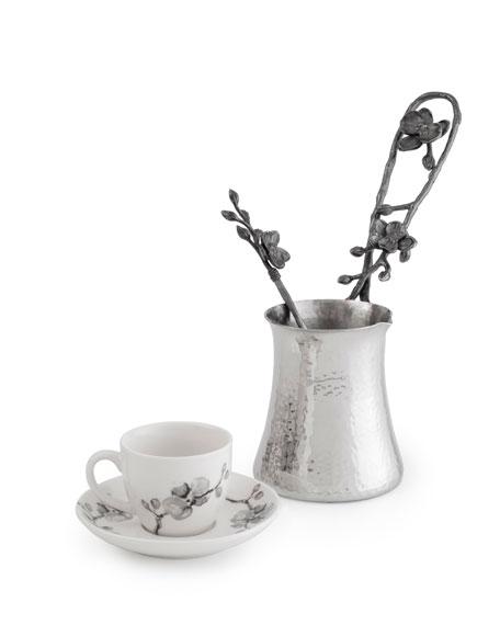 Michael Aram Black Orchid Coffee Pot & Demitasse Set