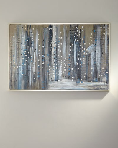 Silver Night Giclee Canvas Art by Ekaterina Ermilkina