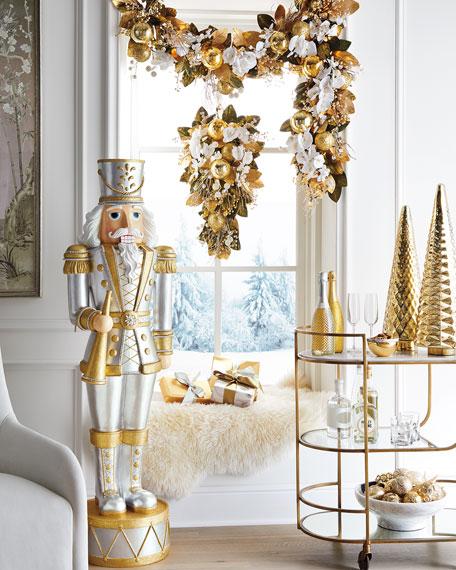 """Gold Christmas 30"""" Door Spray"""