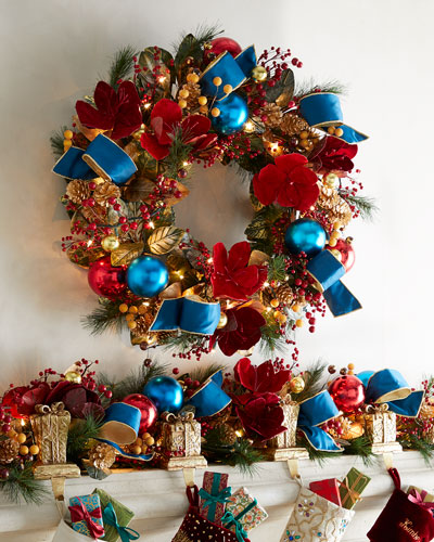 Spiritual Christmas 28 Pre-Lit Wreath