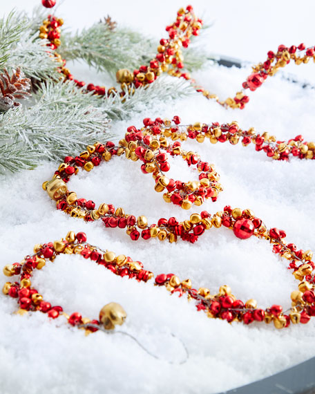 Gold & Red Mixed Small & Big Bells Garland